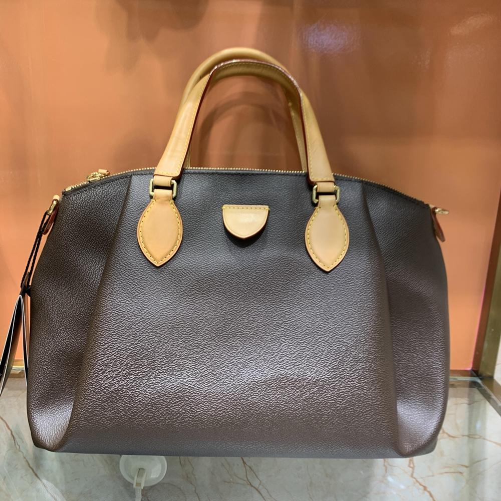 Imprimir Espejo de calidad Cuero de diseño de lujo Letra de diseño + M44546 Bolsa 5A Mujer MM Bolso de mano Tamaño abierto Hombro Canvas Huwns