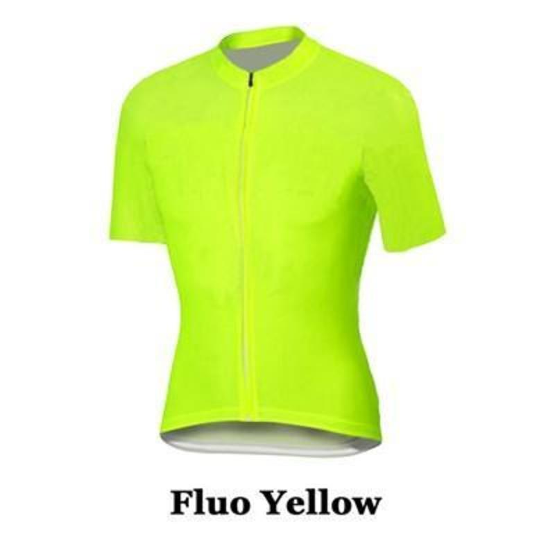 2020 Fluorescenza giallo traspirante Jerseys / Quick -Dry bici Jersey Sportswear Abbigliamento racing Mtb vestiti della bicicletta del ciclo di vestiti
