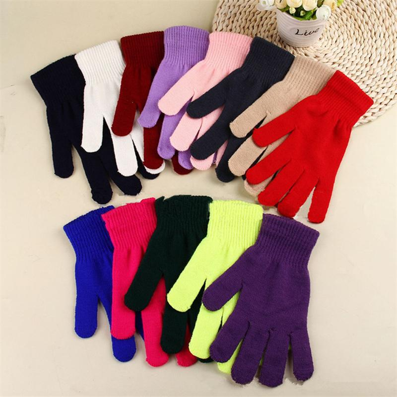 Зимние вязаные перчатки Мужчины Женщины Полный Finger перчатки Магия вязания варежки 13 конфеты цвета на открытом воздухе теплые перчатки ветрозащитный Толстые перчатки 2020 Gift