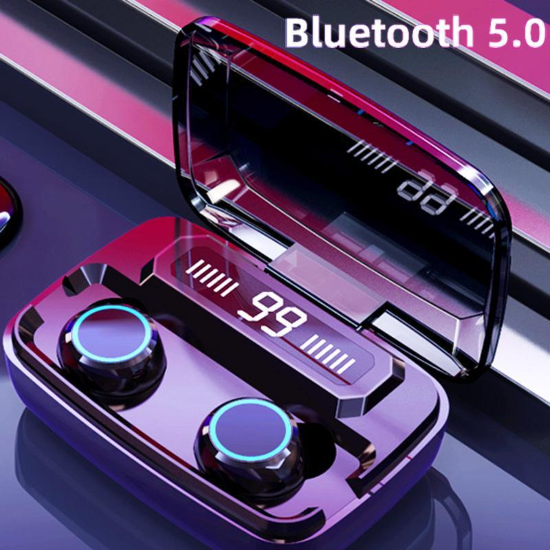 Touch Wireless Headphones Bluetooth 5.0 Sports Waterproof Bluetooth Earphone Wireless Headset Noise Cancelling Earbuds
