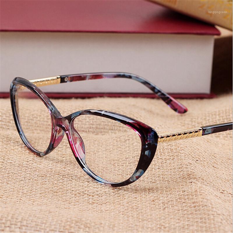 2020 neue Marke Frauen Optische Gläser Brillengestell Katze Augenbrillen Anti-Müdigkeit Computer Lesebrille Brillen Goggles1