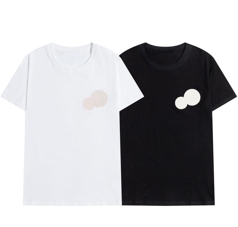 Y Cott Luxur Personalizado Calidad de Alta Moda 2020 Hombres Mujeres Bordado Camisetas Mujeres Tshirts Nuevo diseño Blanco y Blanco100% Tshir Esbe