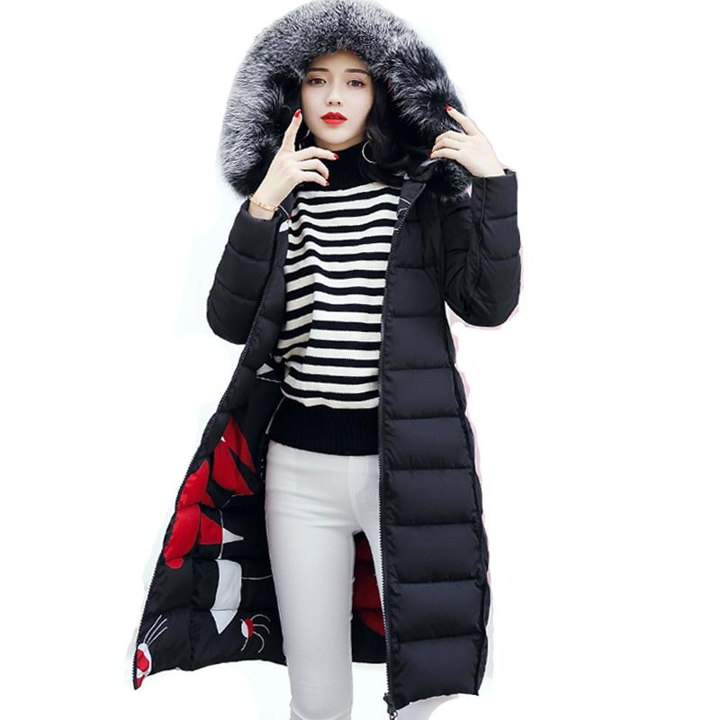With fur hooded Woman Winter Jacket Women's Coat Plus Size 3XL Padded long Parka Outwear for women Jaquata Feminina Inverno 201014
