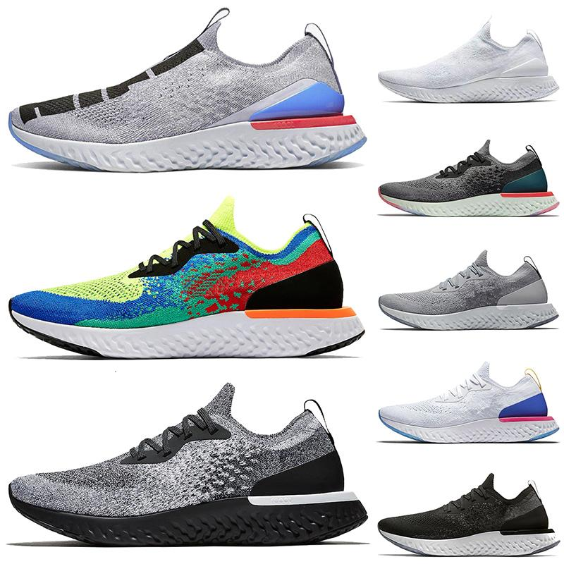 2020 New Quality EPIC React FLY KNIT V2 V1 Shoes Men Trainers Sport Running Shoes Pewter Belgium Cookies Cream Women Outdoor Sneakers 36-45