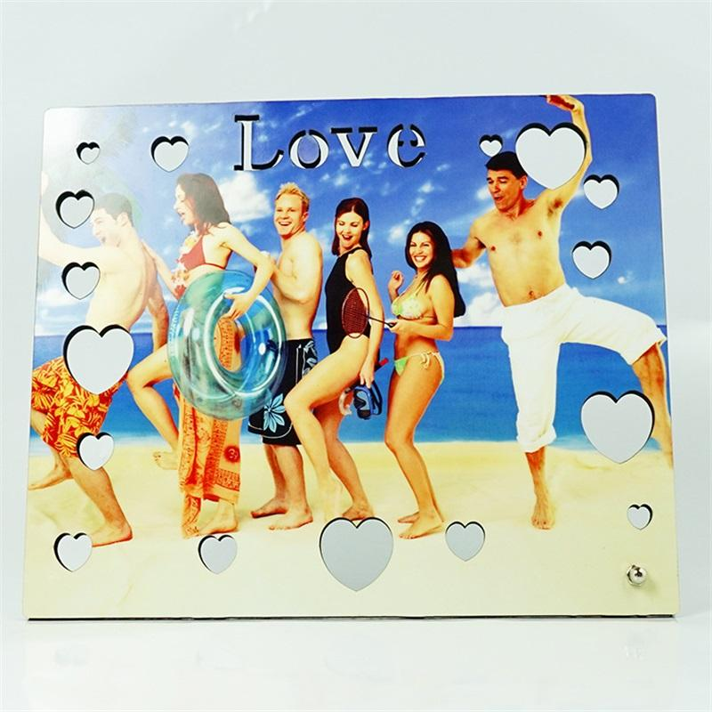 Sublimation Blank Woodblock Painting Hollow Out Wood Picture MDF Love Heart Shaped Gift Pictures Art Personalized 12 83xm O2