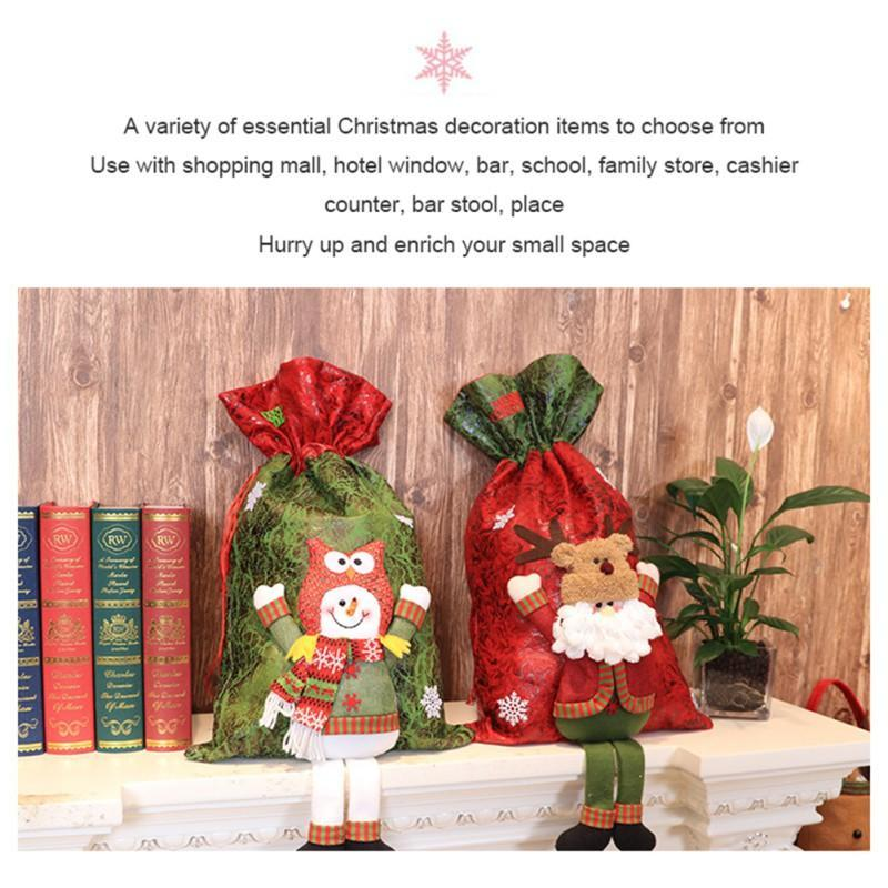 Рождество Трехмерной куклы мешок подарок Свадьба Рождество конфета мешок отдых партия Домашнее украшение украшение