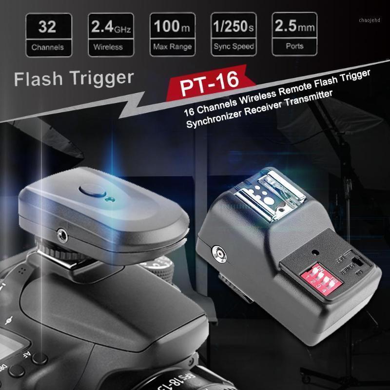 16 каналов Беспроводной пульт дистанционного флэш-триггера с синхронизатором для ботинок Приемник для DSLR Camera1