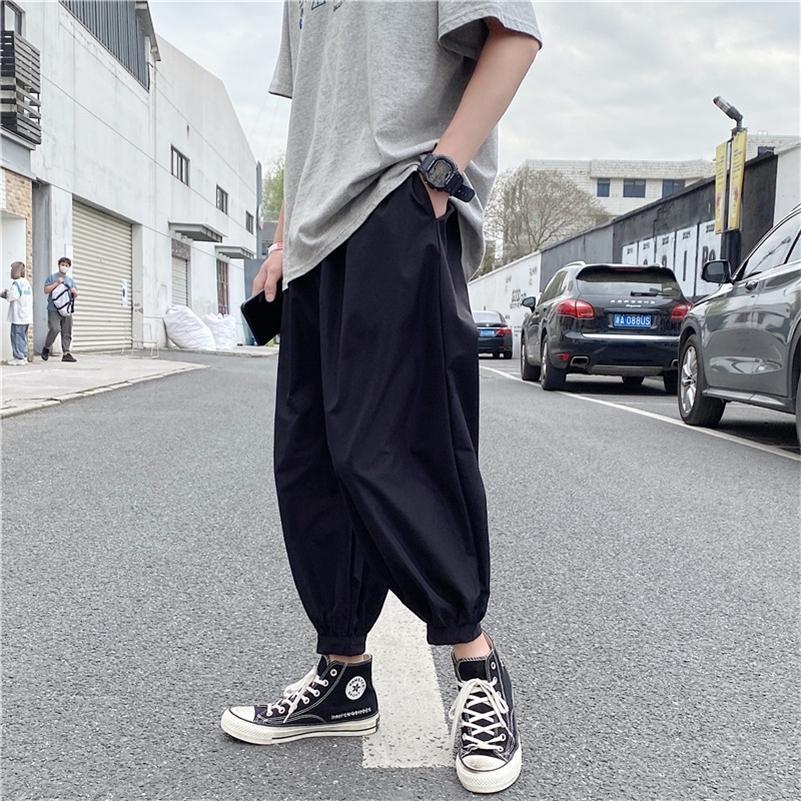 iñossan Basic Simple Color Cargo Pantalones Hombres Oversizados Casual Harajuku Streetwear Pantalones Hip Hop Men Overly Techwear Venta caliente 201109