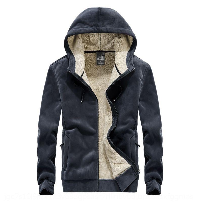 KFVY Hoodies Tişörtü Kalın Giysi Sonbahar Kış Uzun Kollu Adam Giyim Erkek Streetwear Polar Unisex Hoody Patchwork Erkekler