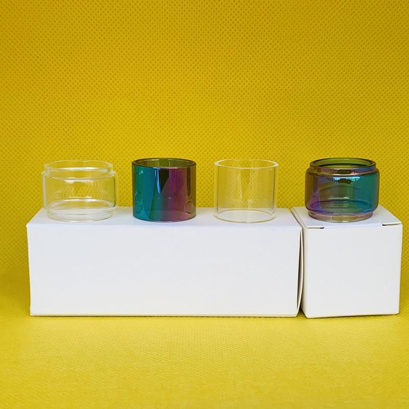 Tubo di vetro per affumicatura TFV9 2ML EU Tank Bag TPD BACK CLEAR NORMAL BULB BULB BUBBLE CONVEX Dritto 1 PZ / 3PCS / 10PCS Box Pacchetto al dettaglio