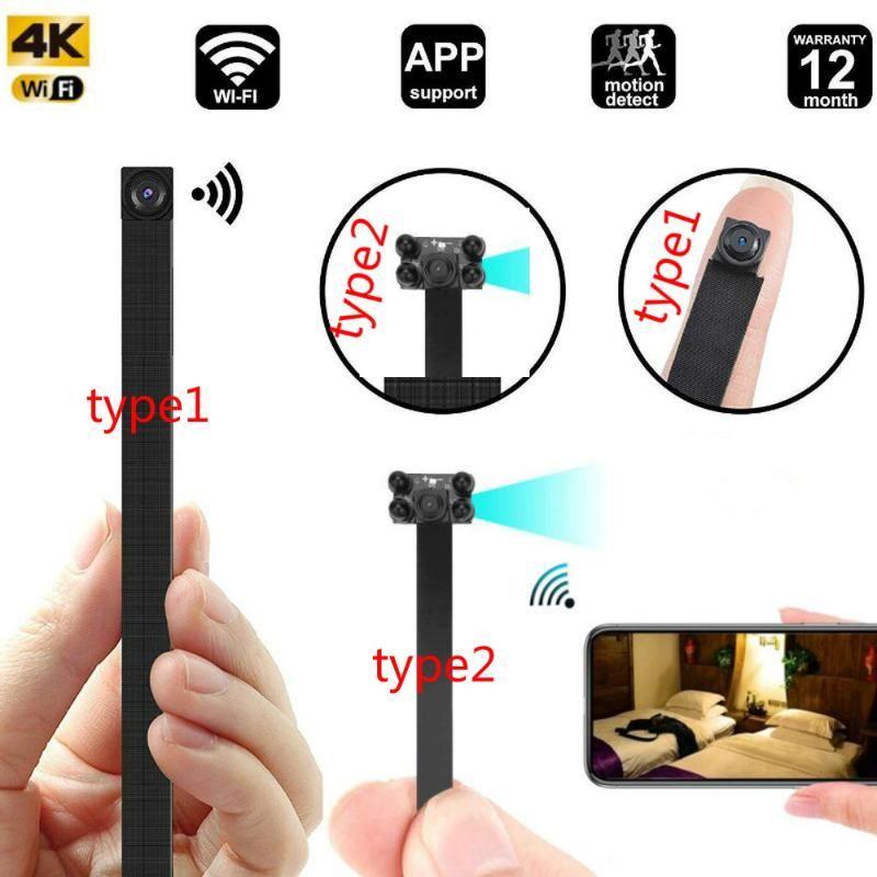 HD 4K WiFi IP Mini Camera DIY Portable P2P Wireless Micro Webcam Camcorder Video Recorder Night Vision Remote View Support 128g