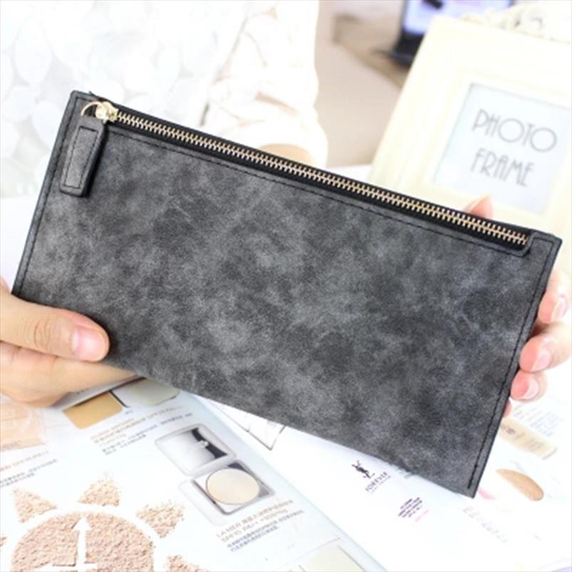 2020 novas mulheres longa carteiras de moda feminina PU de couro com zíper embreagem carteira Coin Bolsas Mobile Phone Bags Senhora Cartão amp; Os titulares ID