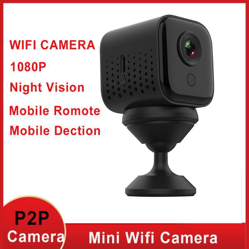 미니 카메라 풀 HD 1080P 카메라 와이파이 IP 야간 투시경 보안 마이크로 스마트 홈 안전 모니터 비디오 DVR 캠코더