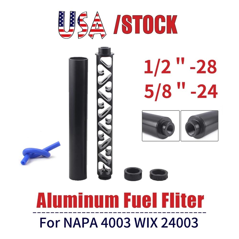 6 Inch USA STOCK NEW Spiral 1/2-28 5/8-24 Single Core Car Fuel Filter for NAPA 4003 WIX 24003 Fuel Trap Solvent Filters RS-OFI044