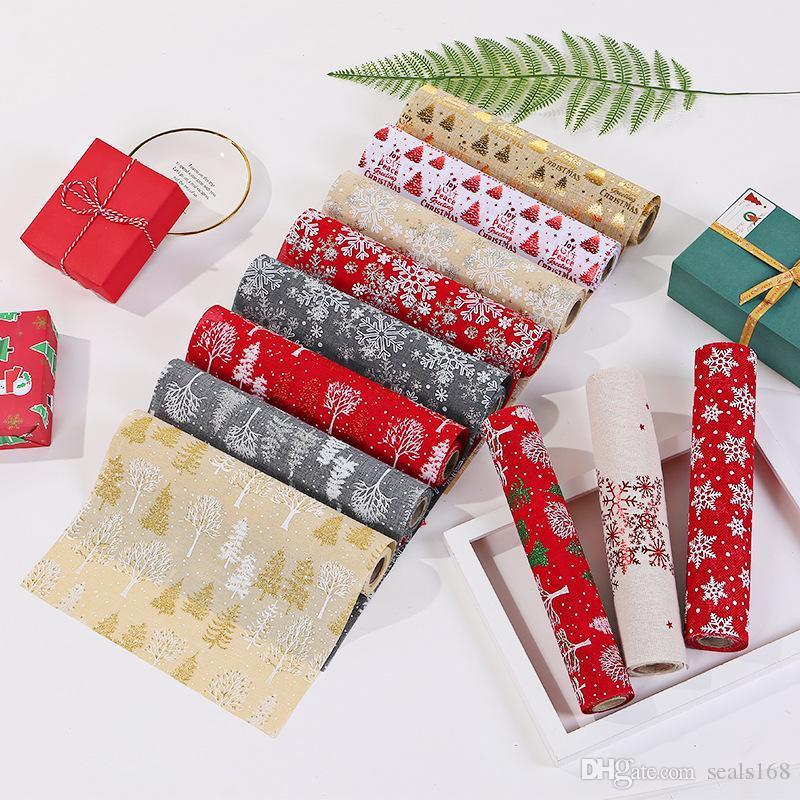عيد الميلاد عداء الجدول الكتان مفرش المائدة مطبوعة صور عيد الميلاد عيد الميلاد الجدول عداء الجدول زينة عيد الميلاد الديكور XD24097