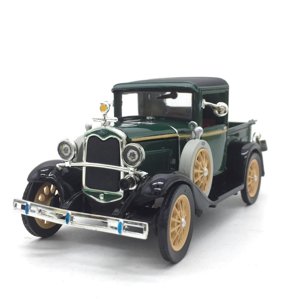 Model 01:32 bağbozumu Klasik antik kamyon Alaşım Araba Ford Uzunluk 13cm için