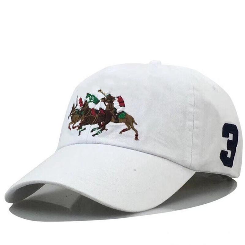 Polo Caps Lüks Tasarımcılar Baba Şapka Beyzbol Şapkası Erkekler ve Kadınlar için Ünlü Markalar Pamuk Ayarlanabilir Kafatası Spor Golf Kavisli Sunhat