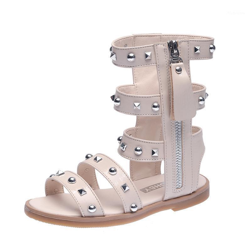 2020 NOUVEAU HAUT TOWARS BABY BABY Sandales Roman Talons Plat Baby Girls Chaussures Princess Beach Chaussures Sandalias Girls Casual1