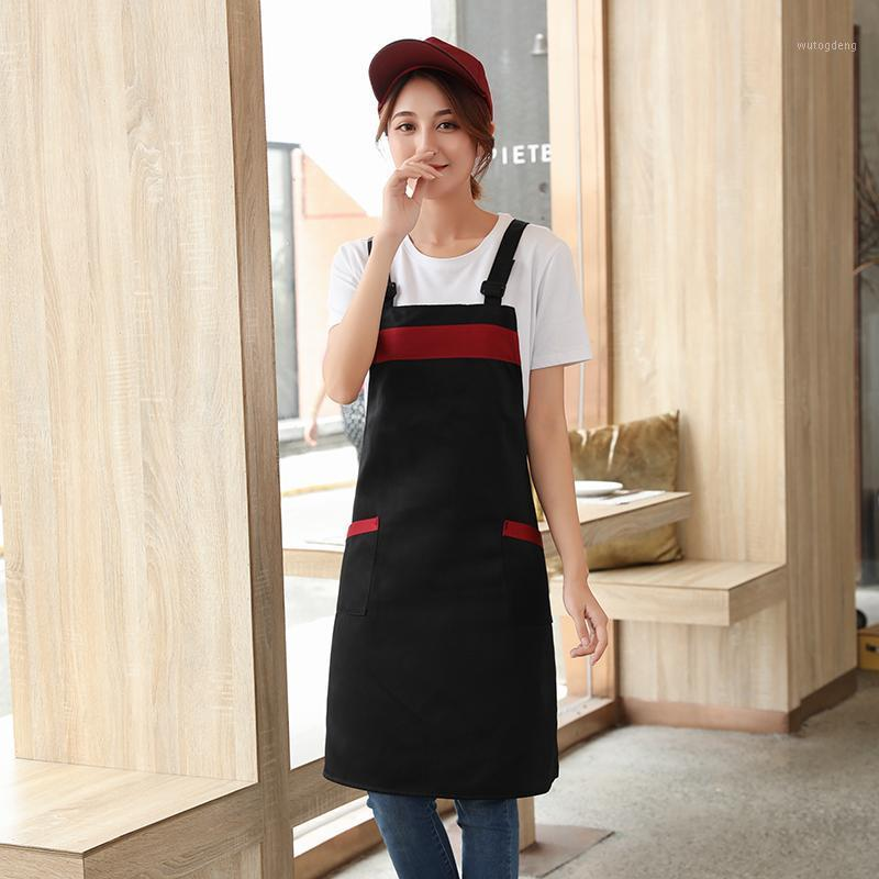 Waiter hanging neck full body apron custom restaurant fruit shop supermarket shop work apron female Korean version1