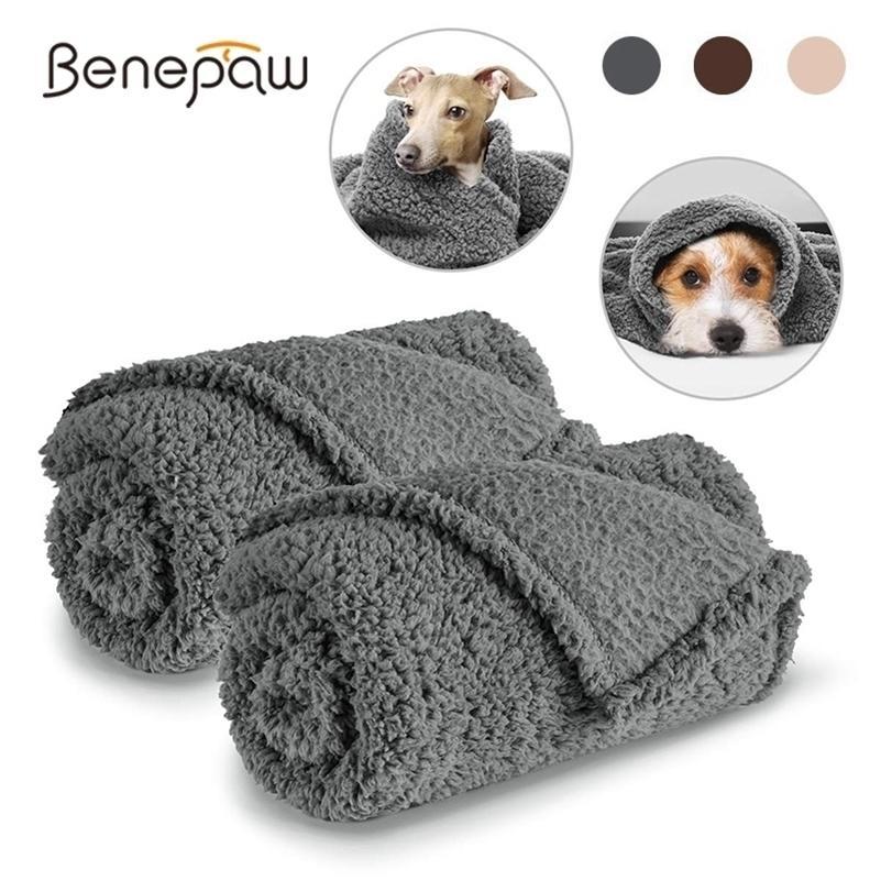 Бенепау мягкий уютный флис домашнее животное одеяло теплый пушистый плюшевый щенок кошек одеяло для маленькой средней большой собаки машина моющийся 201124