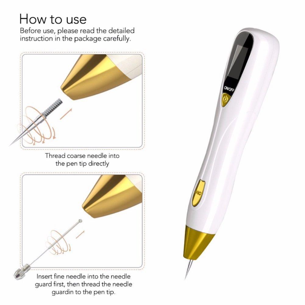 Черный Пятно Pore лазерной плазмы для удаления пера Tattoo Remover инструмент Tag Mole веснушки Варт удаления иглы Средства по уходу за кожей лица