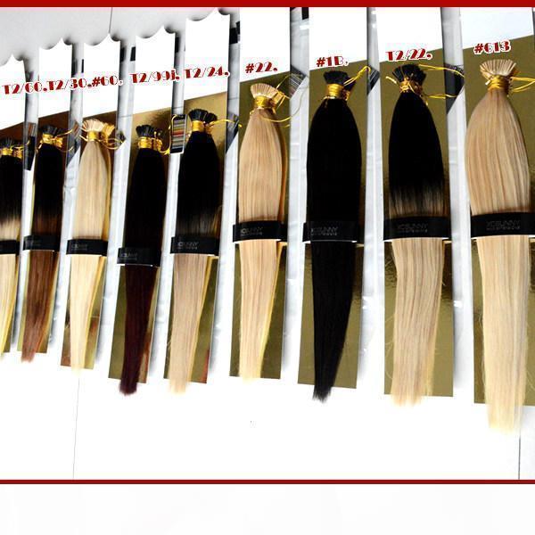 """XCSUNNY I Tip Fusion Hair Extensions 18"""" 20"""" Extensions cheveux naturels Kératine s 1 g 100 g pc bâton indien Remy Extension de cheveux humains"""