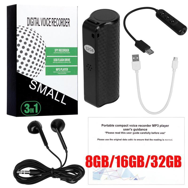 8 GB 16 GB 32 GB Q70 Mini registratore vocale digitale portatile USB Professionale HD Riduzione del rumore Registrazione Dictaphone Audio Recorder Player MP3