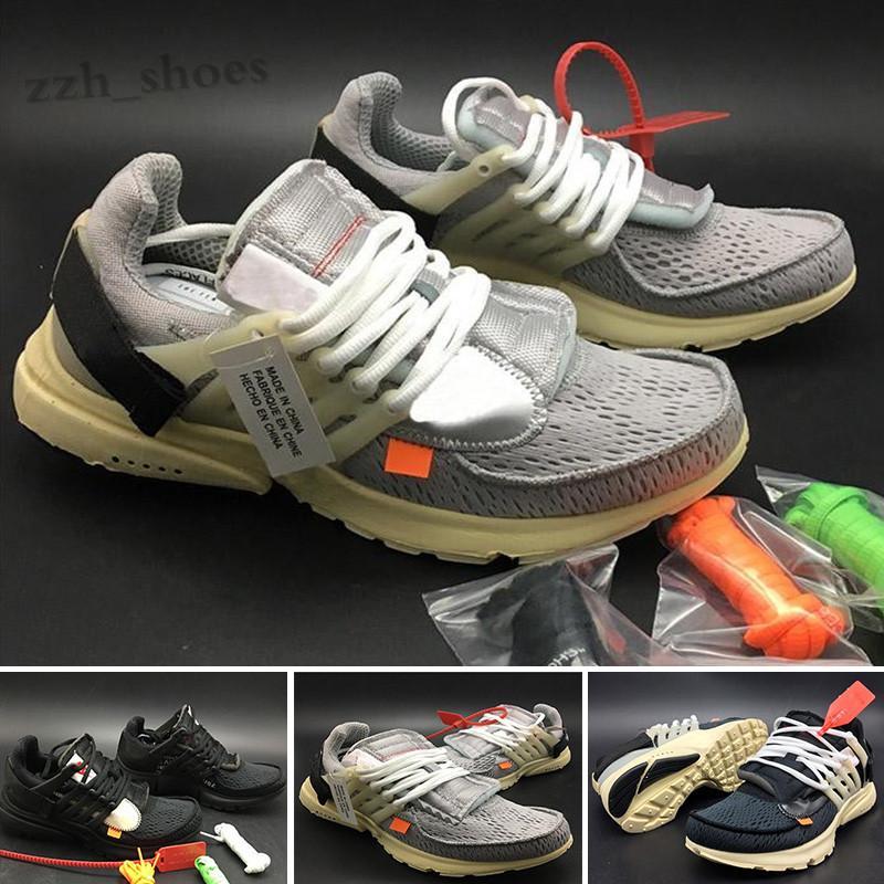 OFF White X NIKE Air Presto OW 2021 Presto 2.0 Siyah Erkek Tasarımcı Ayakkabı Erkekler Için Prestos Ultra Kapalı Açık Moda Spor Eğitmenler Bayan Sneakers PR08