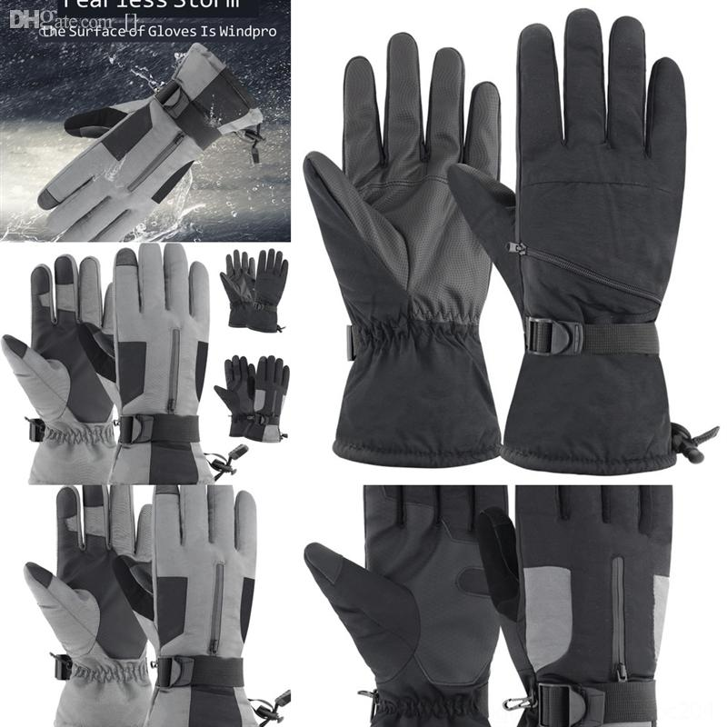 QkAVa New Winter Gloves Warm Skiing Outdoor Screen Ladies Riding Korean Plus skih Windproof Plus Velvet Touch woman winter ski glove