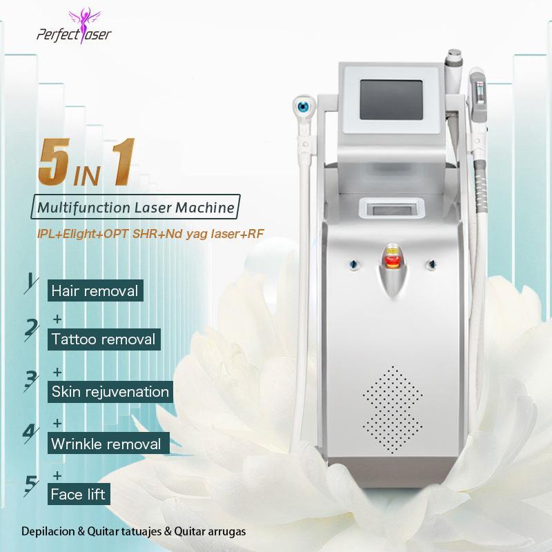 remoção de tatuagens Elight SHR multifunções nd máquina a laser yag com a depilação elight SHR opt IPL remoção do cabelo novas máquinas IPL