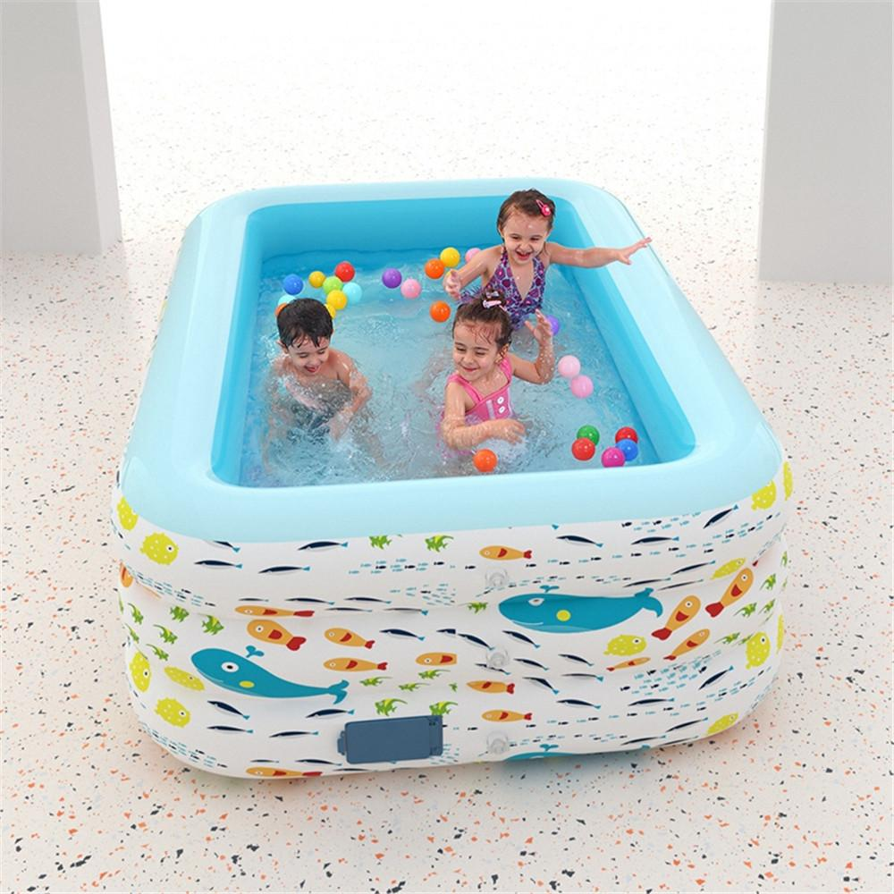 Automatic Inflation Swim for Playpen Baby Ocean Playground Arena Children Ball Pool Park Kids Safety Fence Activity Play Entertainments
