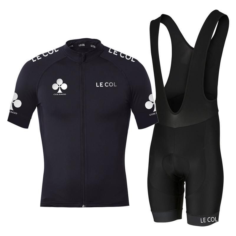 2020 Ciclismo Jersey Le Col Ciclismo Maillot Traje Aero Manga corta Ropa de carreras de bicicleta Bicicleta Ciclismo Ciclismo MTB Tops Desgaste deportivo C0128
