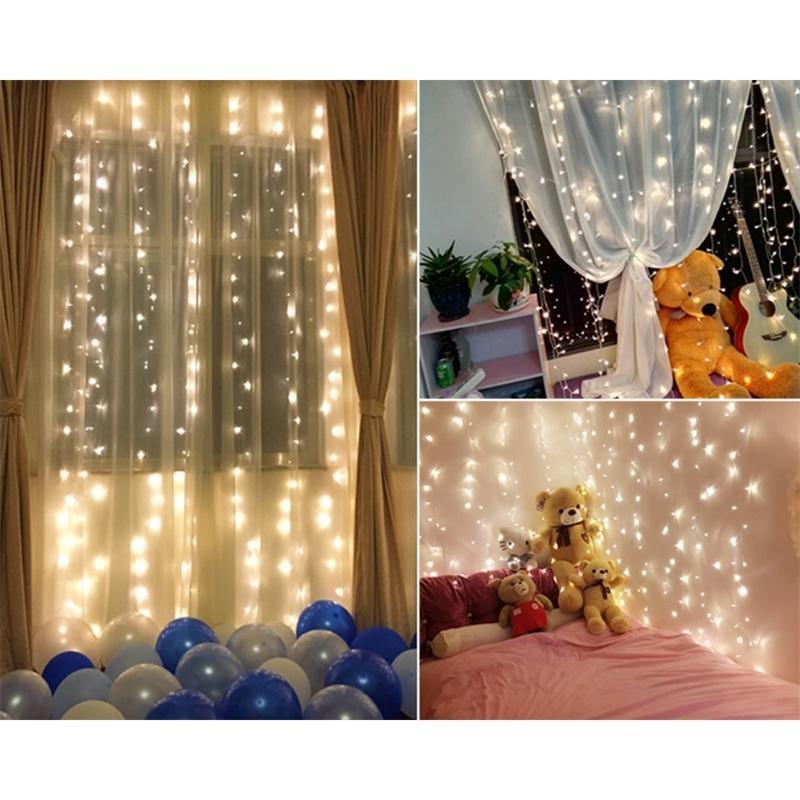 3 * 3m 3m 300 icicle string luzes Natal luzes fadas guirland ao ar livre LED para cortina de festa de casamento LED decoração de luz y200603