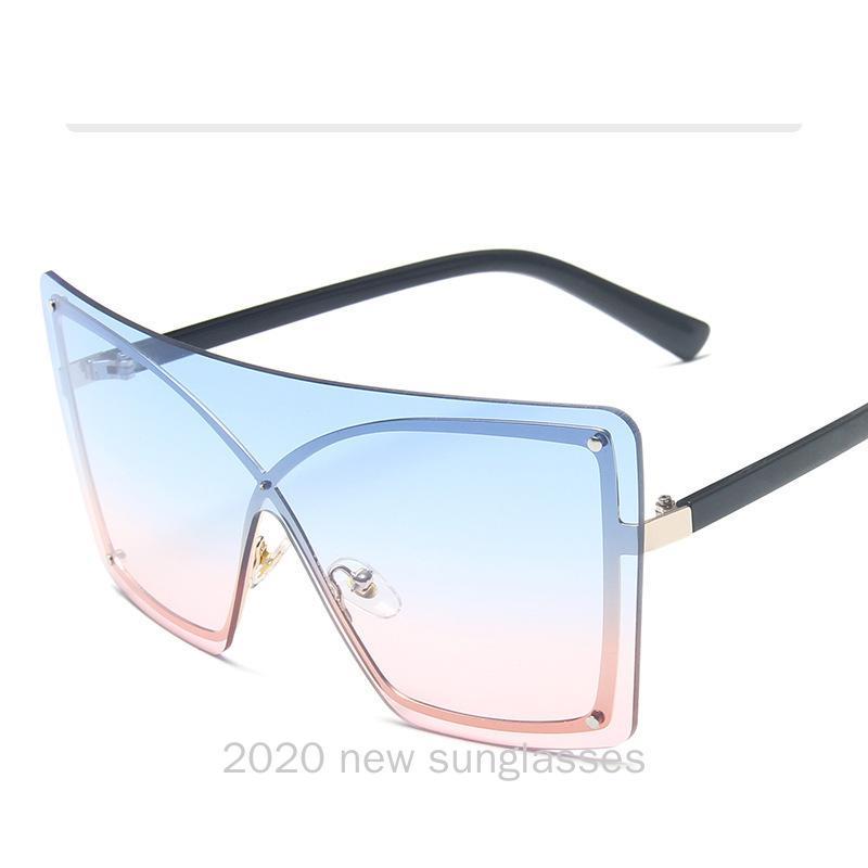 NX Shades Sunglasses Femmes Hommes Soleil Mode Noir Black Clear Big Carré Brun Verres transparentes 2020 Designer Overdimers Rhfmc