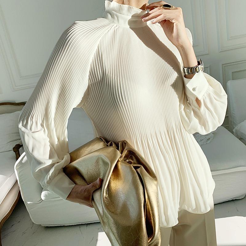 2021 Yeni kadın katı sahte boyun gömlek oymak Kore tarzı gömlek bahar gxb4 tops