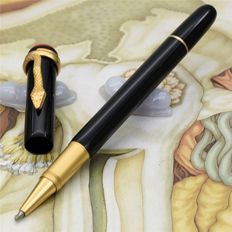 새로운 펜 고유 펜 크기 유산 컬렉션 볼펜 스페셜 에디션 Mon Black Rolllerball Pen 뱀 클립