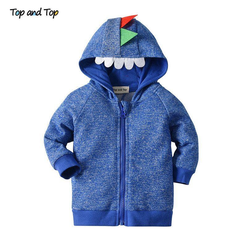 Top und Top Mode-Baby-Dinosaurier-Jacke Herbst-Winter-Baumwolle Kleinkind-Mädchen-beiläufige Mantel-Kind-Kind-Oberbekleidung 1029