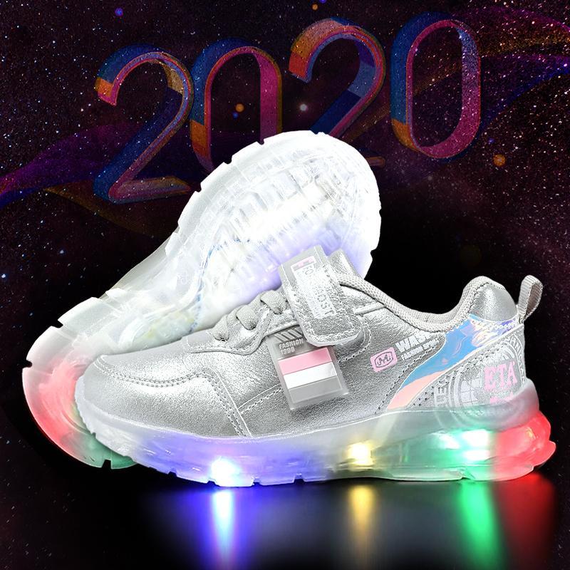 MMnun chaussures pour enfants chaussures de sport pour enfants lumineux rougeoyant chaussures de sport pour chaussures de sport de filles pour les garçons taille 26-31 ML6310 201009