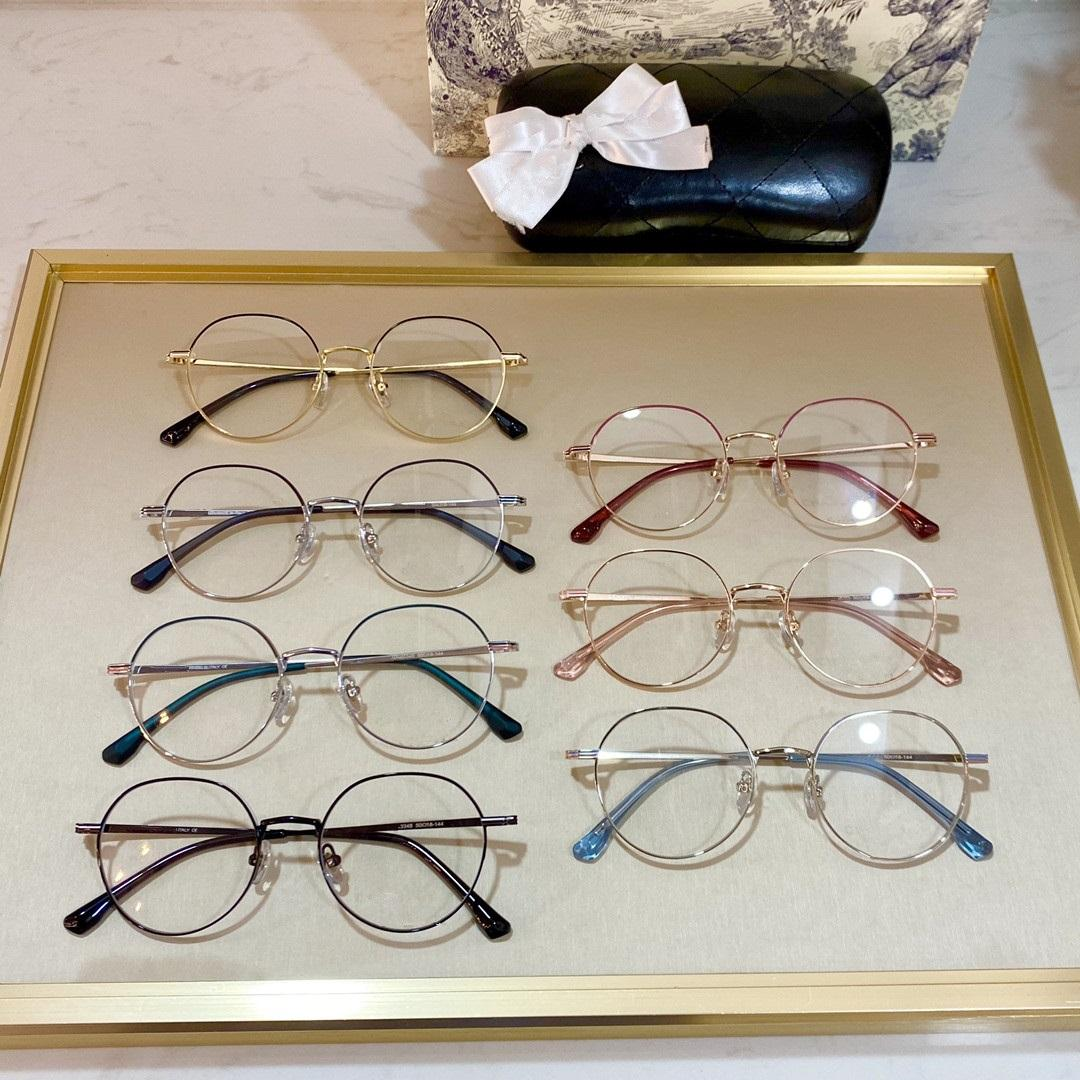 2021 جديد مستدير إطار نظارات 3346 بسيطة جولة نظارات سيدة الإطار خمر عدسة الإطار مزاجه نظارات السيدات حجم 50-18-144،