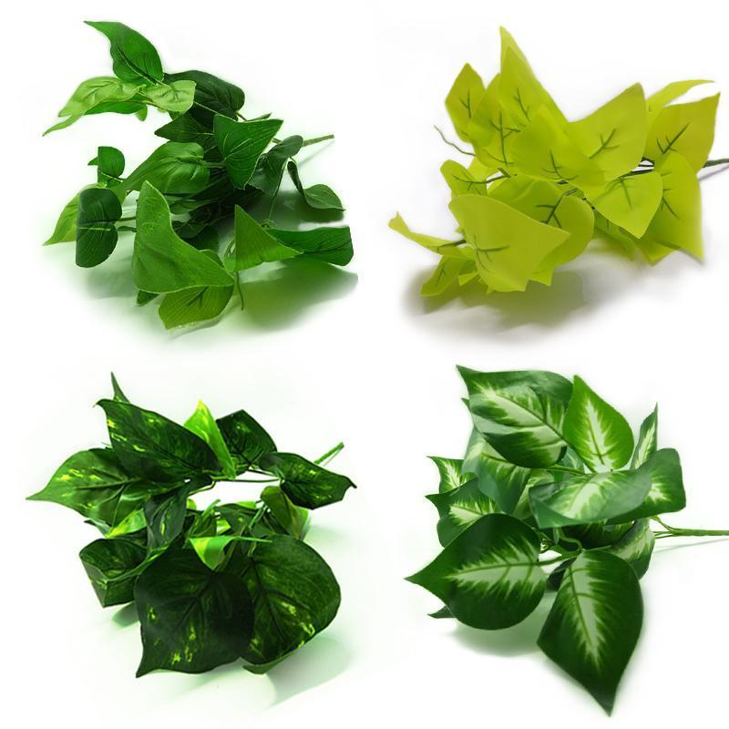 Artificial Plástico Verde Rosegrass Tartaruga Folha de Parede Verde Planta Acessórios Partido Decoração de Casamento Potted Flores Artificiais
