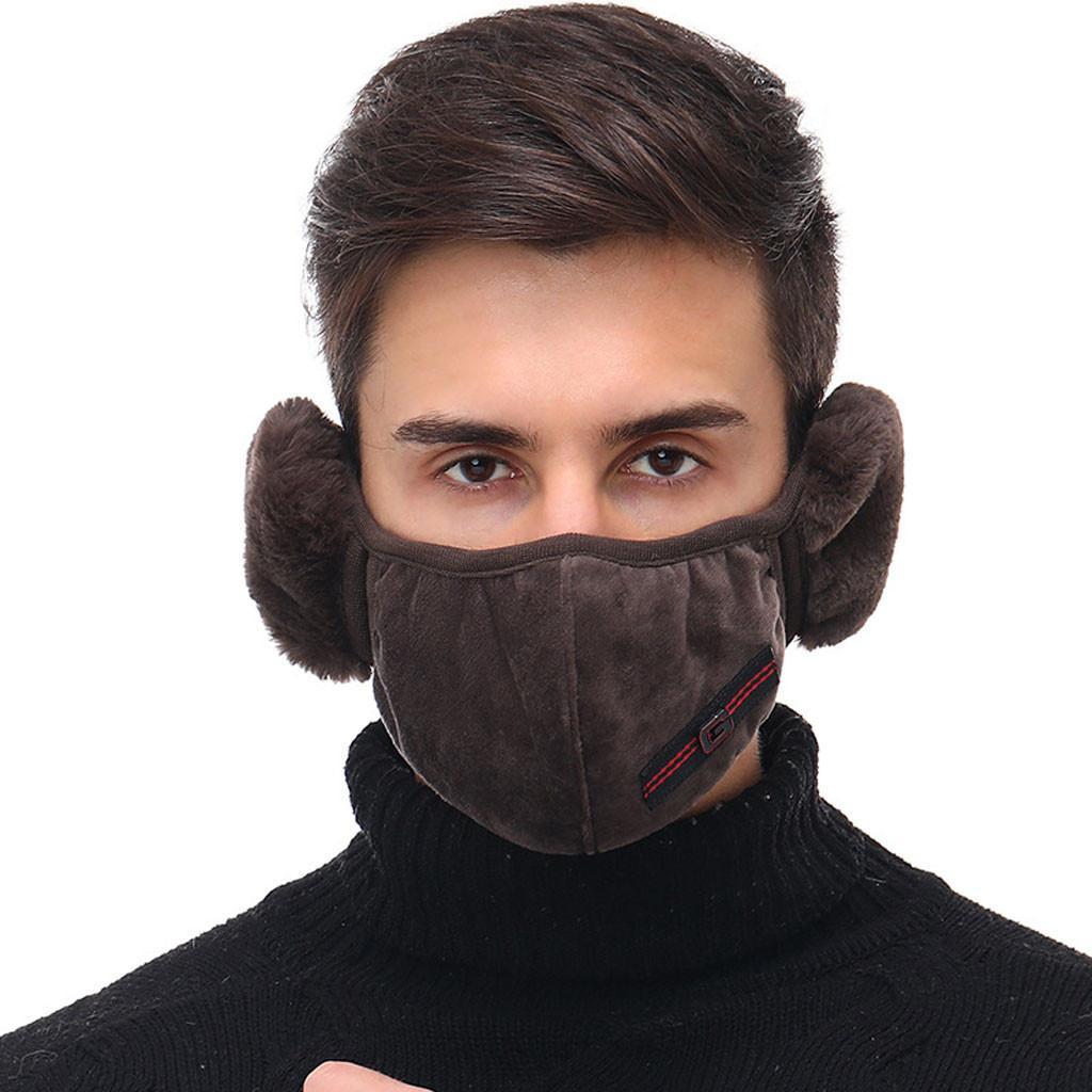 2020Earmuffs Unisex Sonbahar Kış Peluş Yüz Maskesi Yeniden Yıkanabilir Nefes SICAK Muff Wrap Band Kulak Isıtıcı earlap Sıcak