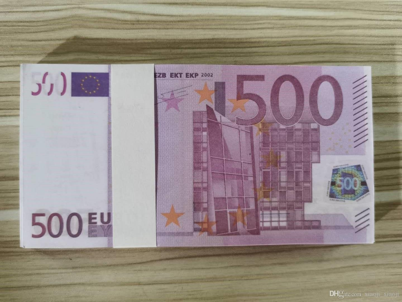 Spielzeug diy kinder banknoten spiel 500 spielzeug beste prop video geld kinder lernen kopierwerkzeug für filme großhandel euro 09 xgeml