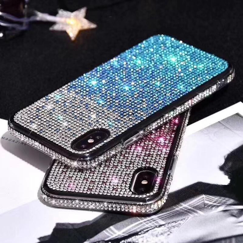 iPhone 12 11 미니 프로 최대 XS X XR 7 8 Plus 모든 다이아몬드 반짝이 백 커버 블링 도금 소프트 실리콘 케이스