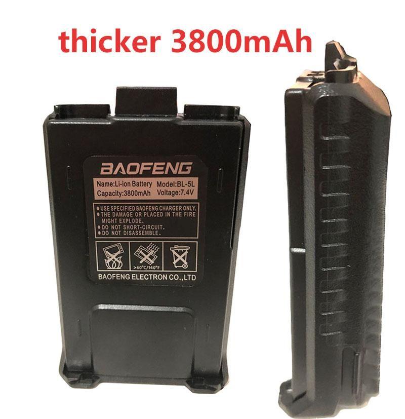 Большие аксессуары 3800mAh Baofeng батарея Walkie Talkie для Baofeng UV-5R UV-5RA BF-F8HP UV-5RE DM-5R Plus Ham радио зарядного устройства