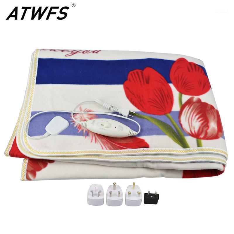 ATWFS Manta de peluche eléctrica Doble calentada Security Securamente grueso Matón eléctrico Calentador de calentador de cuerpo para invierno1
