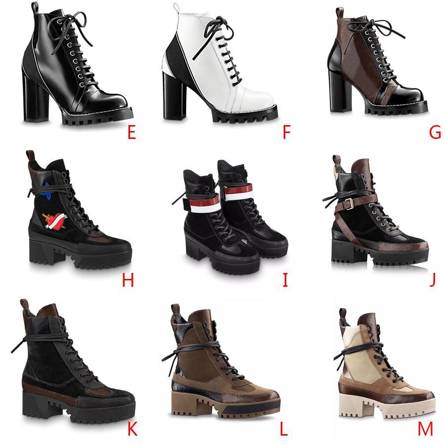 أعلى النساء أحذية الثلوج مارتن الصحراء التمهيد فلامنغوس الحب منصة التمهيد الحقيقي الثقيلة الجلود واجب واجب حجم US5-11 الشتاء 5 سنتيمتر 9 سنتيمتر الأحذية