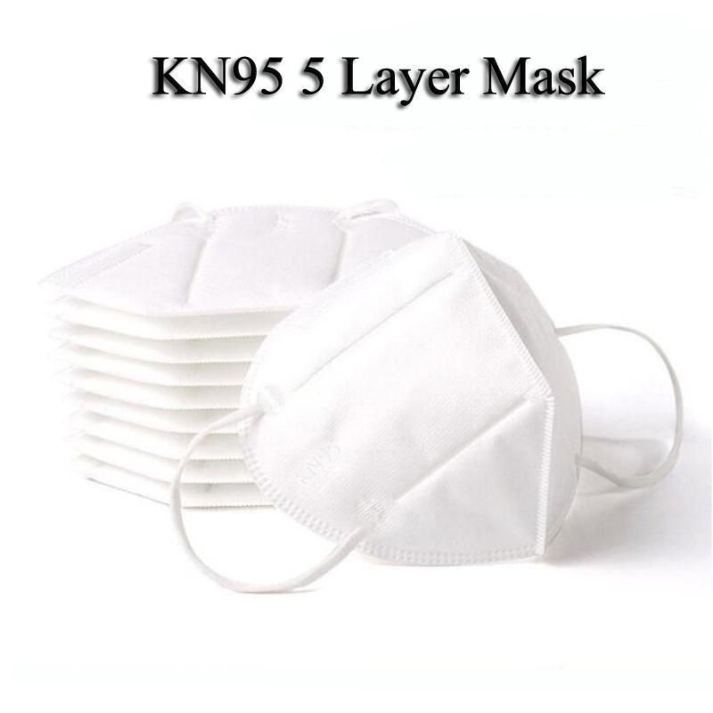 2021 Yeni KN95 Maske Fabrika 95% Filtre Beyaz Yüz Maskesi Aktif Karbon Solunum Solunum Koruyucu Vanası 5 Katmanlı Maskeler Tasarımcı FacMask