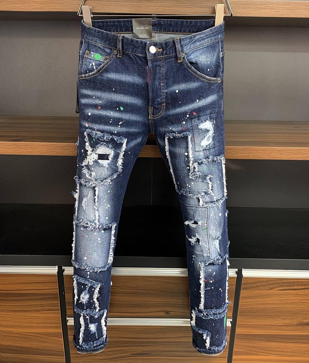 2021 Neue Marke der modischen europäischen und amerikanischen Männer Lässige Jeans, hochwertiges Waschen, reines Handschleifen, Qualitätsoptimierung LA97170