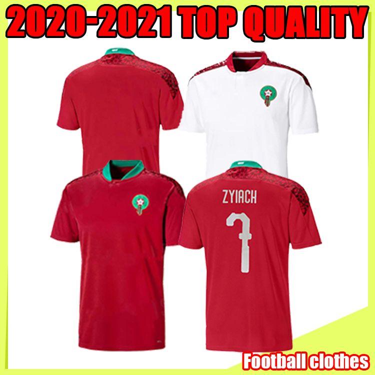 200 2021 Марокко Беннасер Футбол Футбол Футбол Дом 20 21 Maillot de Foot Zieech Boufal Fajr Munir Ait Ait Amrabat Футбольные рубашки