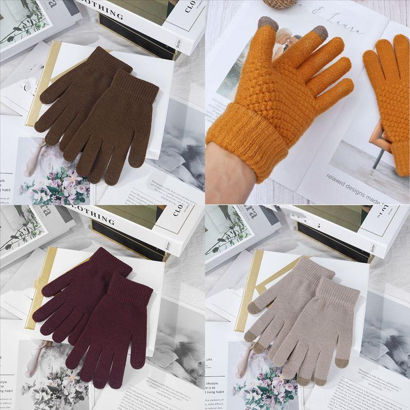 Gants de fleurs d'épaisseur HU3MB Gants de doigt femme Gant de doigt hiver jolie peluche dames pleines pour filles chaudes chaudes gruves adultes haut